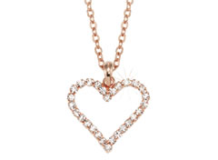 LOVE AFFAIRE Collier rose, weiß